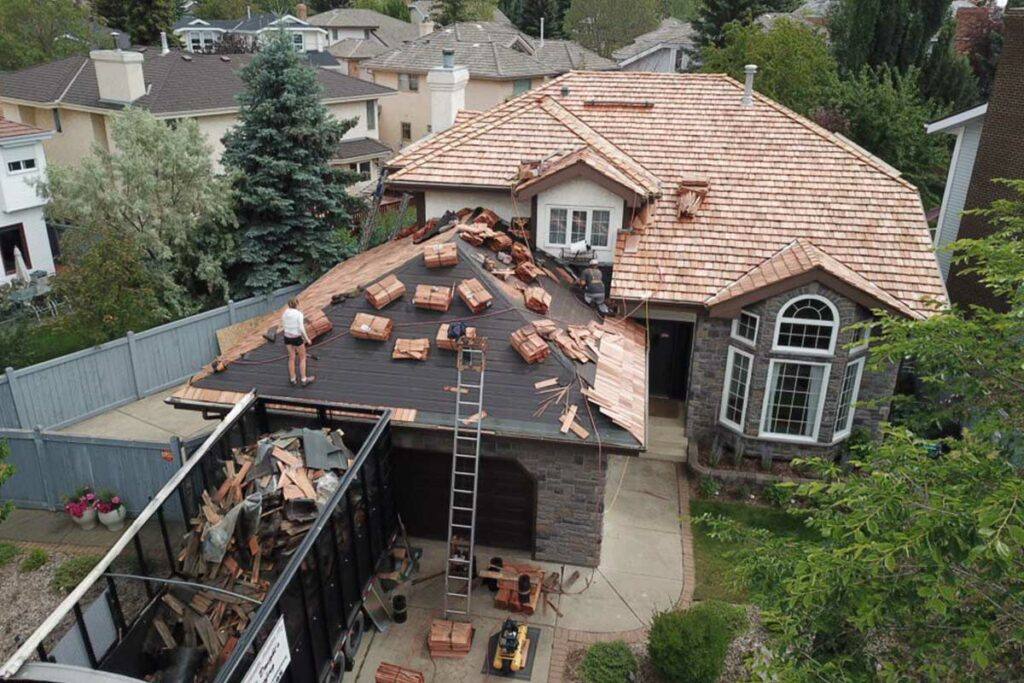 roofing contractors installing a new roof