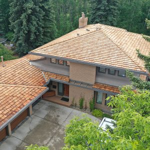 Cedar Roofing on Old House Edmonton