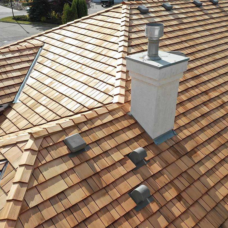 Beautiful cedar roof edmonton