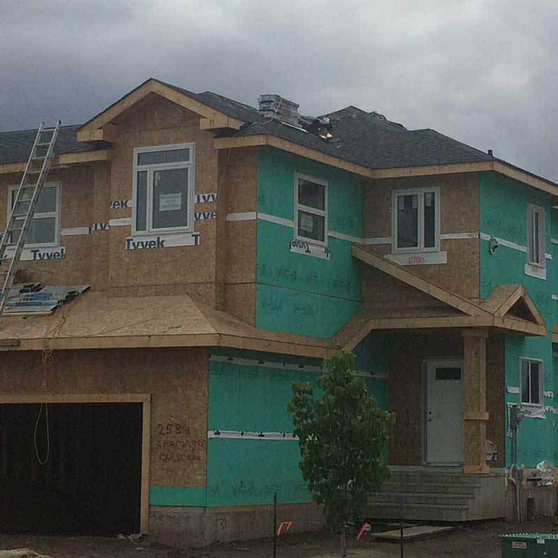 new roof being built in edmonton