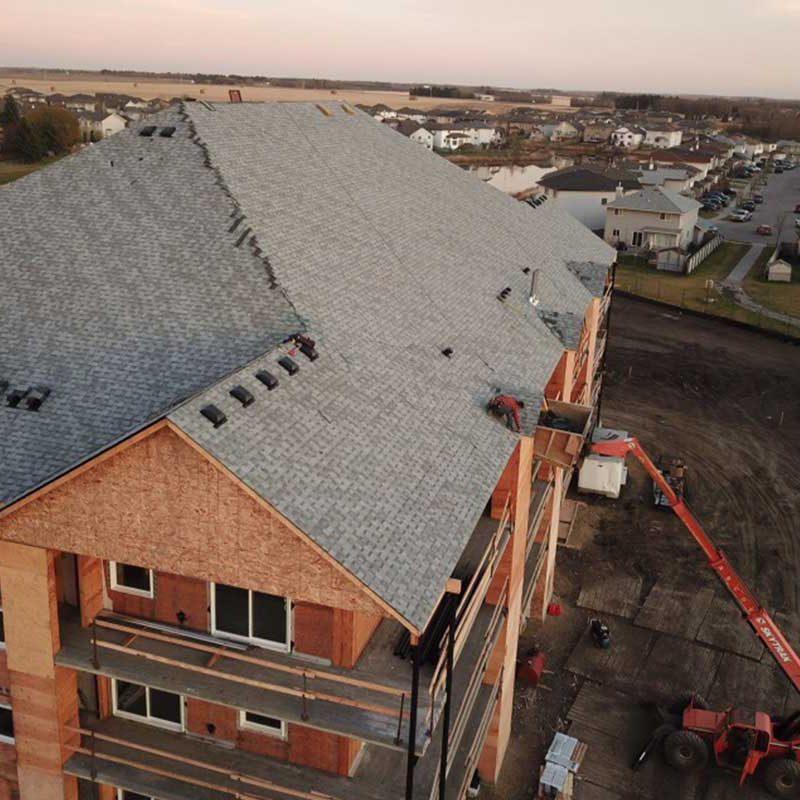 apartment building roof edmonton