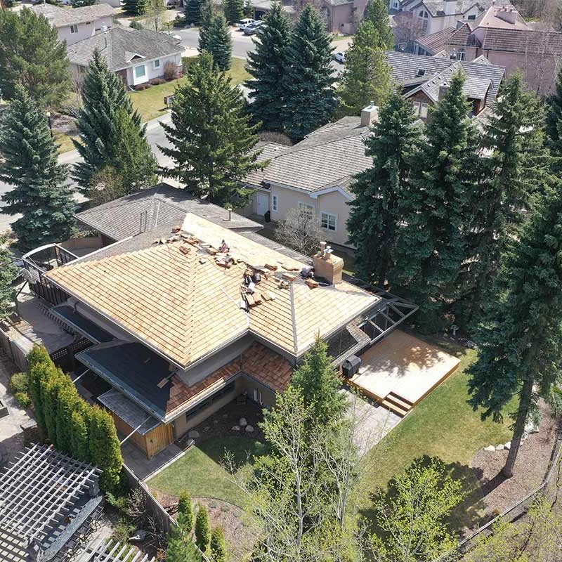 New cedar roof edmonton