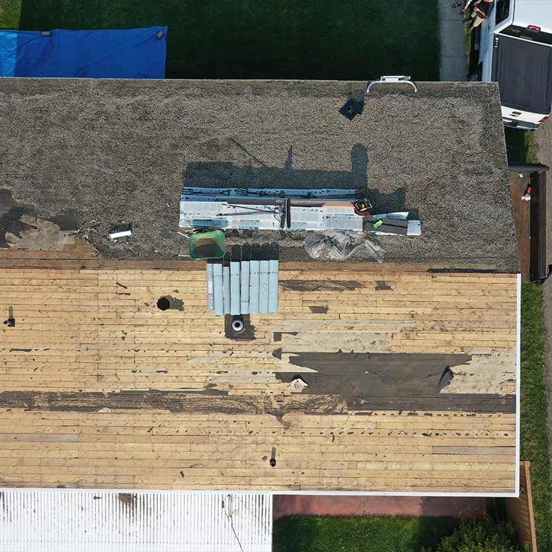 Replacing a damaged roof in edmonton